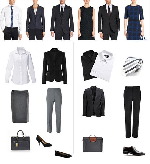 """Exemple de comment s'habiller pour un entretien avec un style """"Strict"""""""